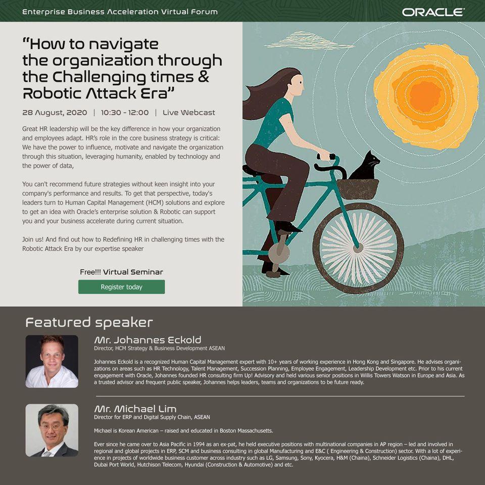 ��������� Virtual Seminar ��Ǣ�� How to Navigate the organization through the Challenging time & Robotic Attack Era